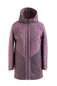 Женская демисезонная куртка  больших размеров 50-58 темная пудра