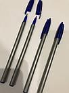 Ручка шариковая Office 6228 синяя, фото 4