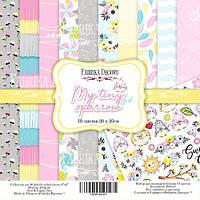 Набор бумаги для скрапбукинга Фабрика декору My tiny sparrow girl, 20х20см, фото 1