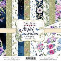 Набор бумаги для скрапбукинга Фабрика декору Night garden, 20х20см, фото 1