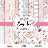 Набор бумаги для скрапбукинга Фабрика декору Say Yes, 20х20см, фото 1