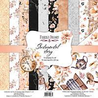 Набор бумаги для скрапбукинга Фабрика декору Sentimental story, 20х20см, фото 1