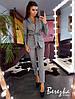 Костюм женский модный пиджак в клетку на подкладе и брюки Ds1712