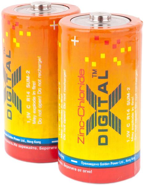 Батарейка X-Digital R 14 2шт/уп
