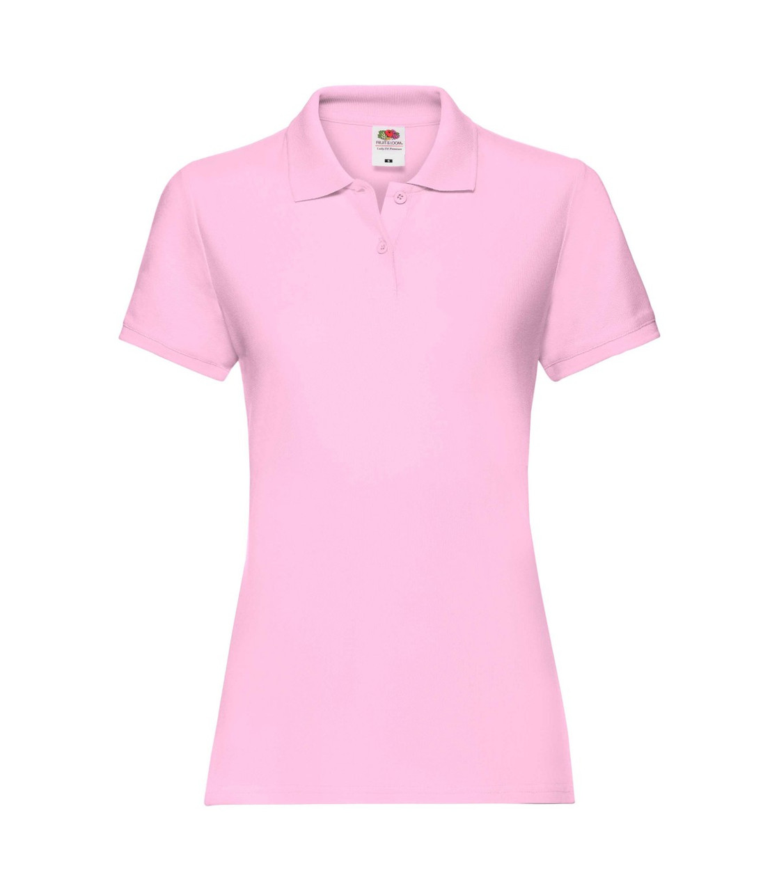 Женская футболка поло хлопок розовая 030-52