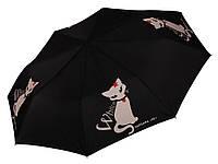 Зонт Белая кошка BARBARA VEE ( автомат/полуавтомат ) арт.WC100 BK, фото 1