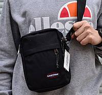 Сумка на плечо мессенждер мужской черный крутой Eastpak THE ONE Messenger Bag