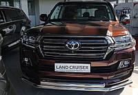 Защита переднего бампера двойной ус Toyota Land Cruiser 200 2019+ г.в.