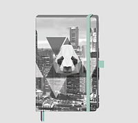 Стильный блокнот Brunnen с графической обложкой А5 средний