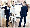 """Классический костюм для мальчика """"Август"""" синий 2-ка пиджак и брюки из вельветовой ткани арт 109-95, фото 6"""