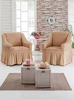 Универсальные натяжные чехлы на два кресла
