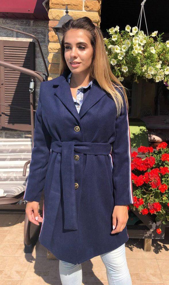 Женское кашемировое пальто Лампасы 5037