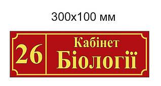 Табличка Кабинет Биологии
