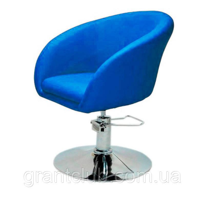 Кресло парикмахерское Мурат P синее экокожа поворотное с гидроподъемником СДМ группа