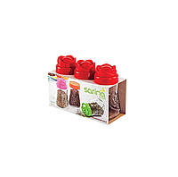 Набір банок Rose Sarina 370мл. 3шт., фото 1