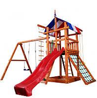 Детская игровая площадка (Babyland-3) для улицы (качели+горка+песочница)