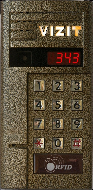 Блок вызова Vizit БВД-343R