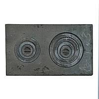 Плита чугунная 2-х комфорочная (З-2) 410х710