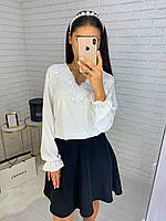 Блузка с итальянским набивным кружевом, фото 1