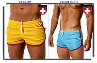 Плавки-шорты спортивного стиля Andrew Christian, на шнуровке, с кантом, полиэстер сетчатой структуры, 5 цветов