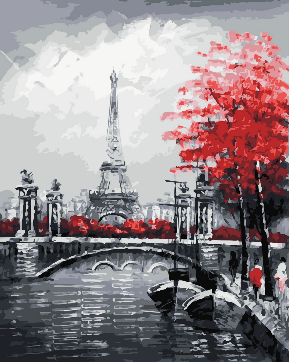 Картина по номерам  Осенний Париж, 40x50 см., Rainbow art