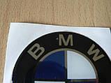 Наклейка s круглая BMW 60х60х1.2мм силиконовая эмблема в круге без ободка на авто 3М БМВ №2, фото 2