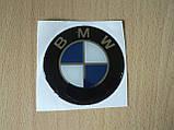 Наклейка s круглая BMW 60х60х1.2мм силиконовая эмблема в круге без ободка на авто 3М БМВ №2, фото 4