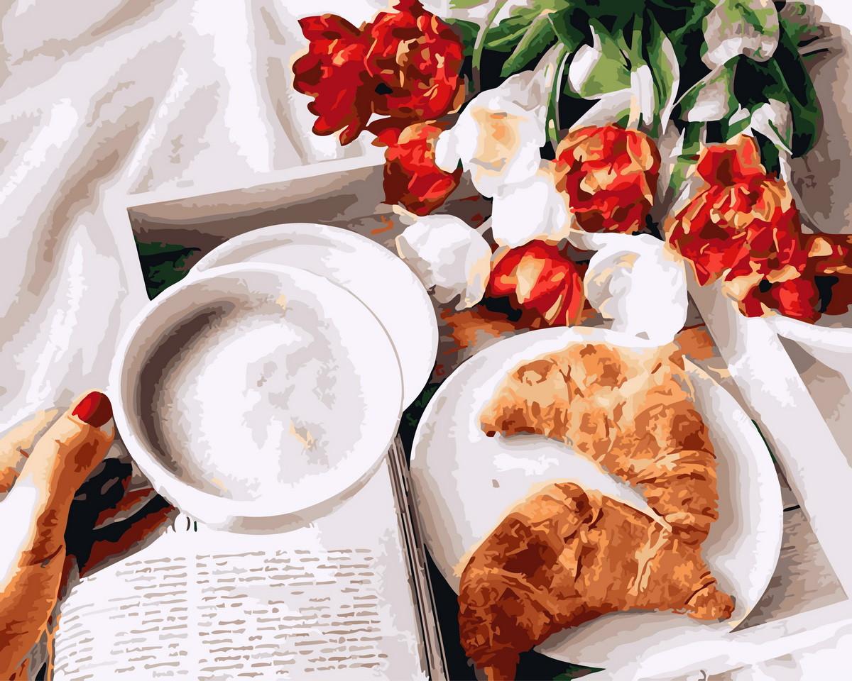 Картина по номерам  Завтрак с любовью, 40x50 см., Rainbow art