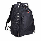 Городской рюкзак Swissgear 8810 Черный с дождевиком с дождевиком