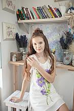 Нарядное платье для девочки Illudia Италия 2147 Молочный