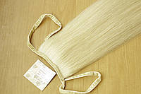 Натуральный хвост из славянских волос на ленте