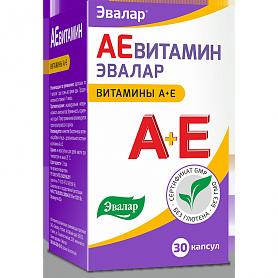 АЕвитамин Евалар, 30 капс