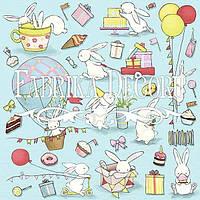 Лист для вырезания №4 Bunny Birthday Party