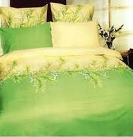 Полуторное постельного белье Конвалия зеленая