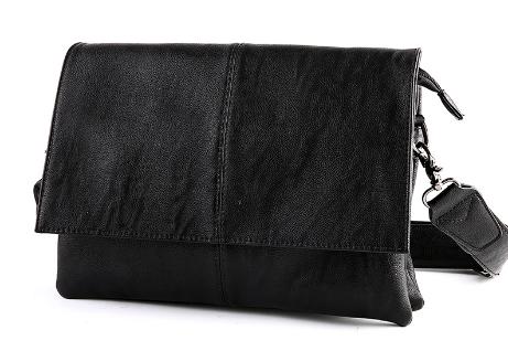 Сумка Fashion горизонтальная черная ( код: С298 )