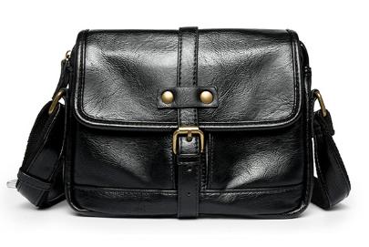 Мужская сумка черная с лямкой ( код: С495 )