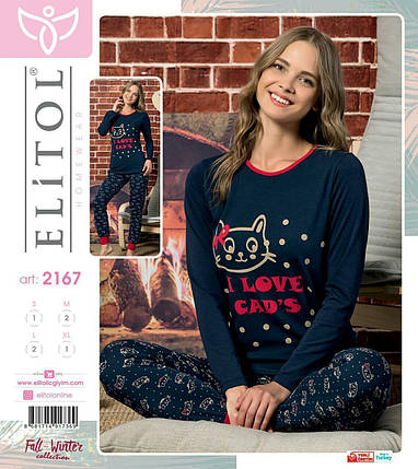 Женская пижама Elitol Турция M L XL, фото 2