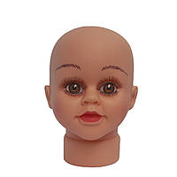 Манекен детской головы с макияжем
