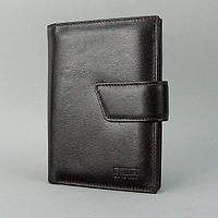 Кошелек мужской кожаный черный паспорт права Bond, фото 1