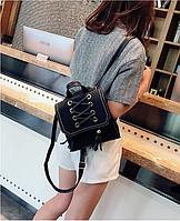 Рюкзак-сумка женский со шнуровкой ( код: R606 )