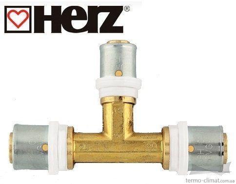 Пресс-тройник с уменьшенным средним отводом 20 x 2 - 16 x 2 - 20 x 2 (P722001)
