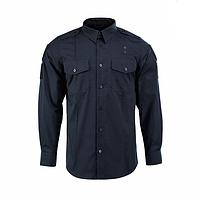 Рубашка полицейского ткань рип-стоп пропитка Teflon синяя