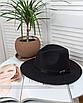 Шляпа федора женская бежевая кемел с широкими полями классическая трендовая фетровая, фото 7