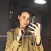 Шляпа федора женская бежевая кемел с широкими полями классическая трендовая фетровая, фото 8