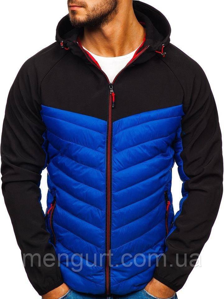 Демисезонная спортивная куртка(батник)мужская  с капюшоном Польша