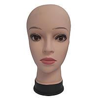 Манекен женской головы с макияжем