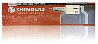 Коньково-карнизная черепица Шинглас (SHINGLAS), коричневый, фото 1