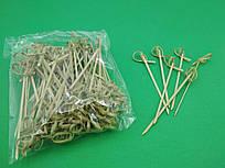 Шпажки-палочки бамбуковые с узелком 12см,100 шт (1 пач)