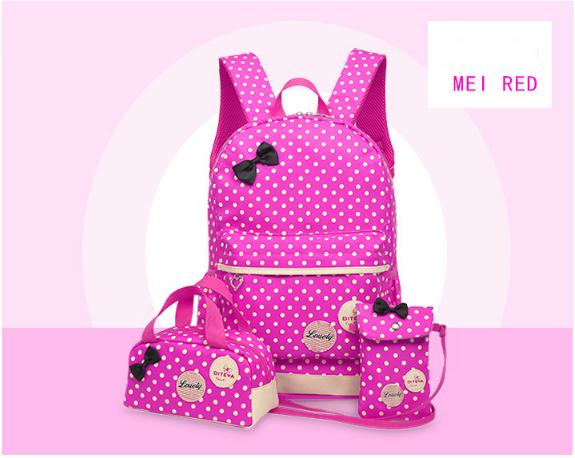 Рюкзак школьный женский Набор 3 в 1 для девочки розовый