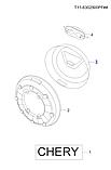 Колпак запасного колеса чери Тигго 1, Chery T11FL, t11-6302530pf-dq, фото 4